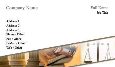 Scales of Justice and Gavel Business Card Template